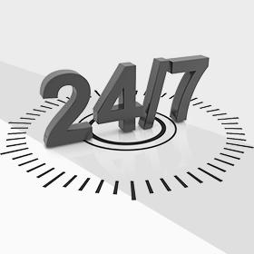 Мы работаем 24 часа 7 дней в неделю